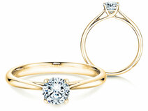 Solitärring Delight in 14K Gelbgold mit Diamant 0,50ct G/SI