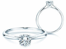 Solitärring Delight in Platin mit Diamant 0,50ct G/SI