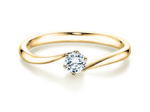 Verlobungsring Devotion in 18K Gelbgold mit Diamant 1,00ct G/SI