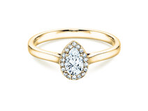 Verlobungsring Pear Shape in 14K Gelbgold mit Diamant 0,50ct
