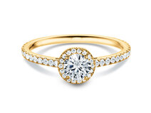 Diamantring Pure Infinity in 18K Gelbgold mit Diamant 0,95ct