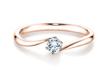 Verlobungsring Devotion in 14K Roségold mit Diamant 1,00ct G/SI