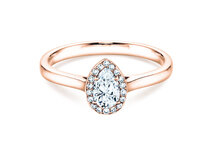 Verlobungsring Pear Shape in 18K Roségold mit Diamant 0,50ct